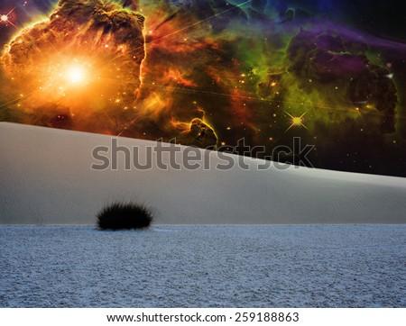 White Sands Fantasy Landscape - stock photo