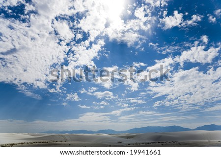White Sands National Monument New Mexico - stock photo