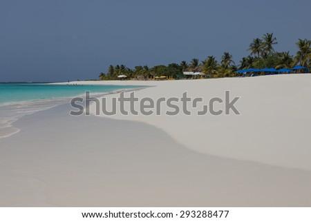 White Sands of Anguilla, Caribbean - stock photo