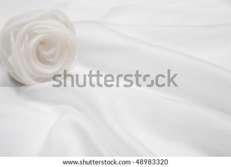 White satin rose. - stock photo