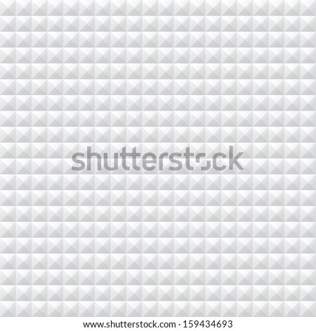 White seamless triangle pattern - stock photo