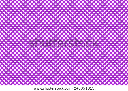 White shape heart with purple background - stock photo