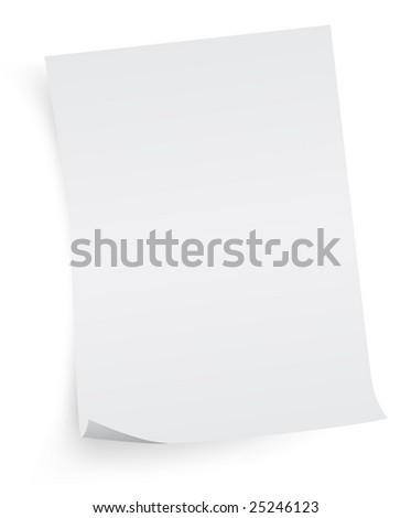 white sheet of paper - stock photo