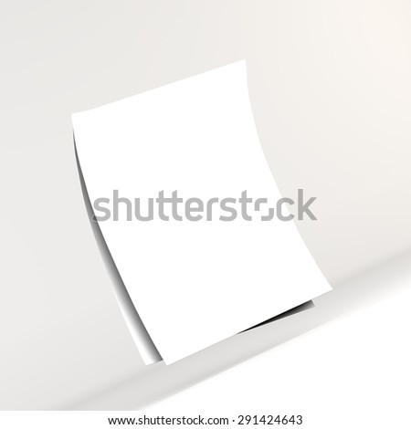 white sheet of paper, with space for text, greetings, background, texture - stock photo