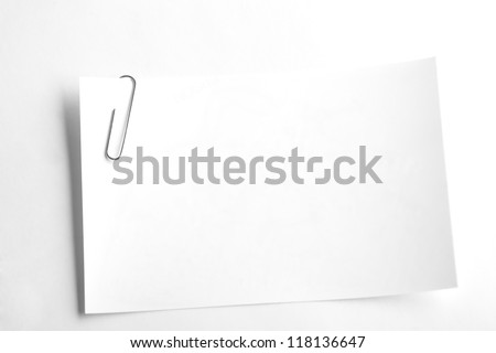 White sheets for record stapled paper clip - stock photo