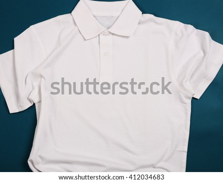 White shirt on a blue background - stock photo