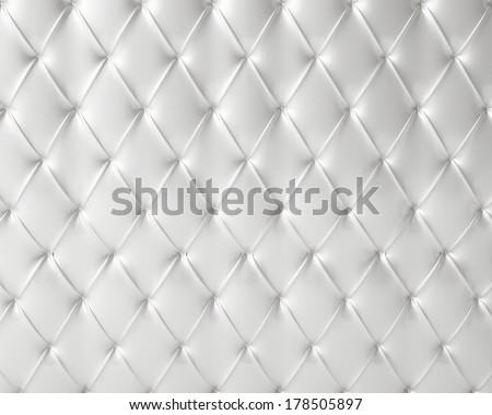 white silky luxury buttoned pattern - stock photo