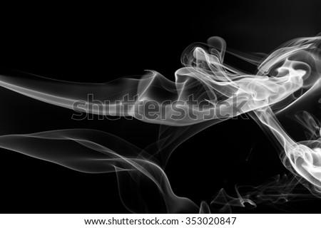 white smoke on black background, white smoke on black background, smoke background,white ink background,smoke background ,beautiful white smoke - stock photo