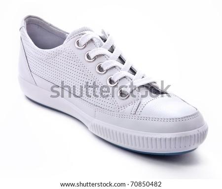 White sneaker - stock photo