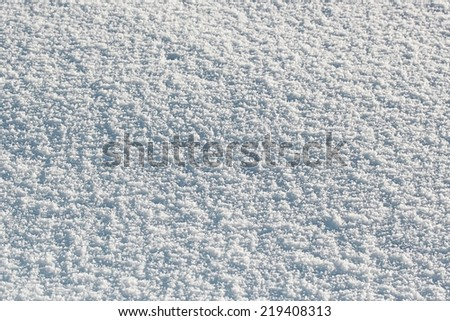 White snow surface background - stock photo