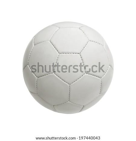 white soccer ball - stock photo