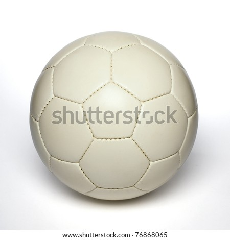 white soccer ball - stock photo