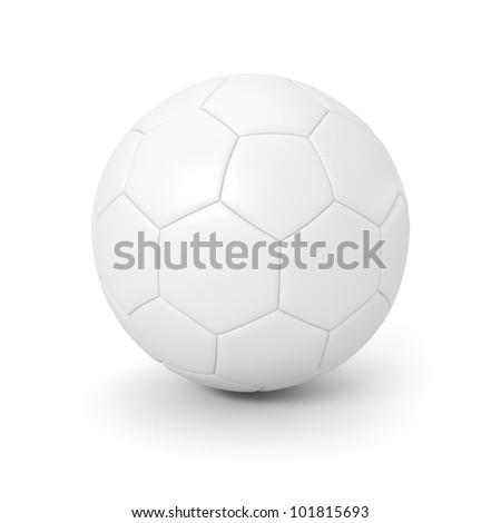 White soccer ball on the white background - stock photo