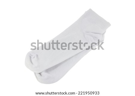 white socks on white background - stock photo