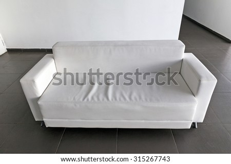 White sofa in the office - stock photo
