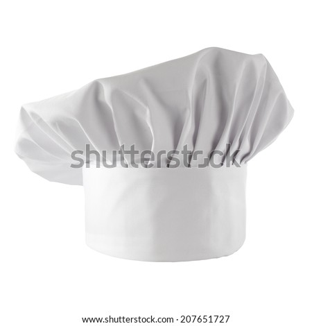 white space and cook hat  - stock photo