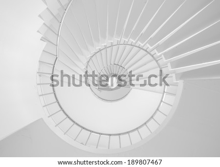 White Spiral stair is so tall ass business is not easy but can be successful. Business concept  - stock photo