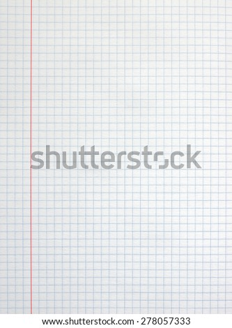 White square paper sheet background from notepad. - stock photo