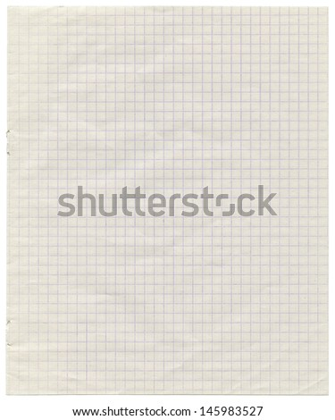 White squared paper sheet background ,textured background, paper background   - stock photo