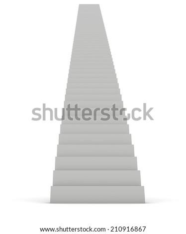 White Staircase - stock photo