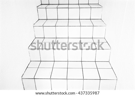 White stairs. - stock photo