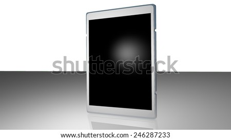 White Standing Pad With Blank Screen - stock photo