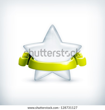 White star, award bitmap copy - stock photo