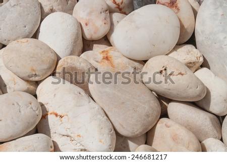 White stone texture - stock photo