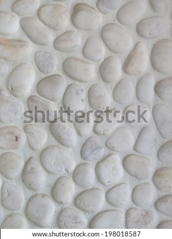 white stone texture background surface in wall - stock photo