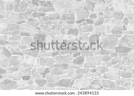WHITE STONES WALL TEXTURE - stock photo