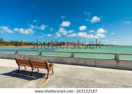 White Street Pier in Key West, Florida. - stock photo