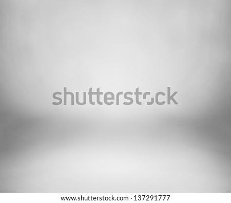 White Studio Backdrop with Floor - stock photo