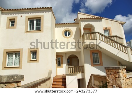 White summer house in Majorca (Spain) - stock photo