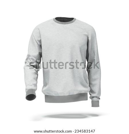 White sweatshirt - stock photo