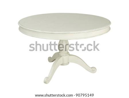 white table isolated on white background - stock photo