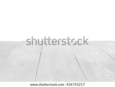 white table on white background - stock photo