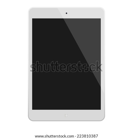 White Tablet Computer  Illustration Similar To iPad - stock photo