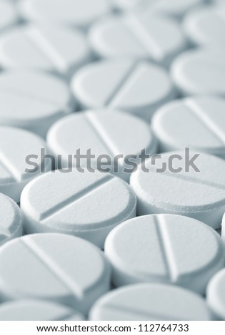 White tablet pills background , full frame - stock photo