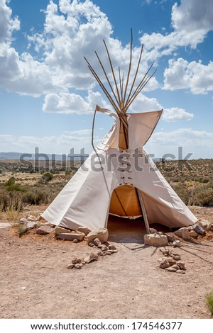 White tepee at the Grand canyon.  - stock photo