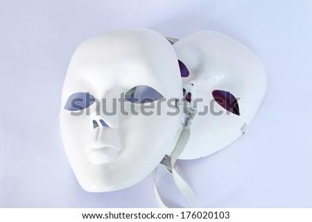 White theatrical mask - stock photo