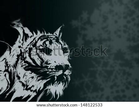 white tiger background - stock photo