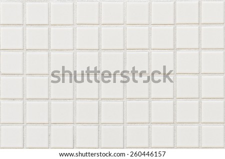 White tile wall background and texture - stock photo
