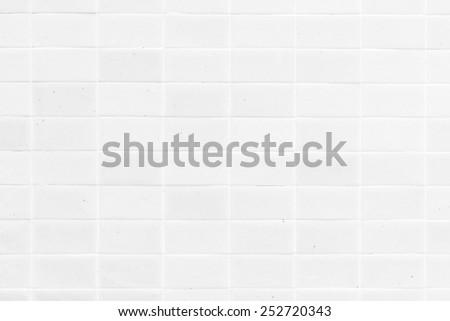 White tiles textures background - stock photo