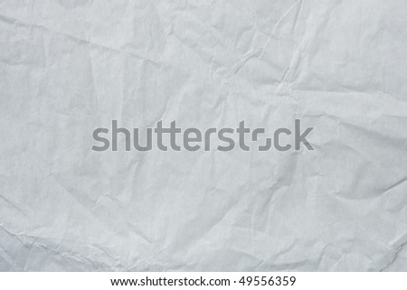 White Tissue Paper Texture. Focus across entire surface. - stock photo
