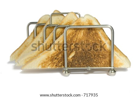 White Toast Triangles - stock photo