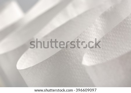 White toilet paper in closeup as background - stock photo
