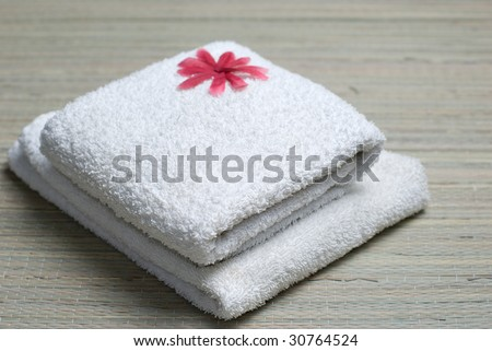 white towel - stock photo
