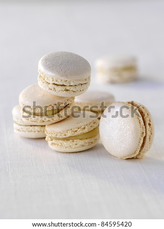White truffle macaroons - stock photo