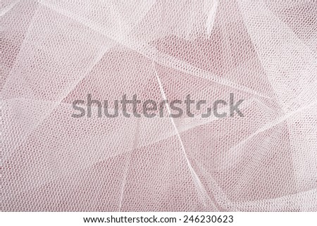 White tulle texture close up - stock photo