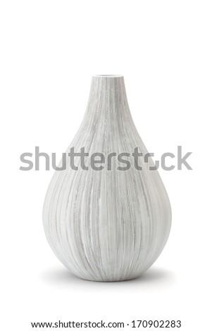 white vase isolate background - stock photo
